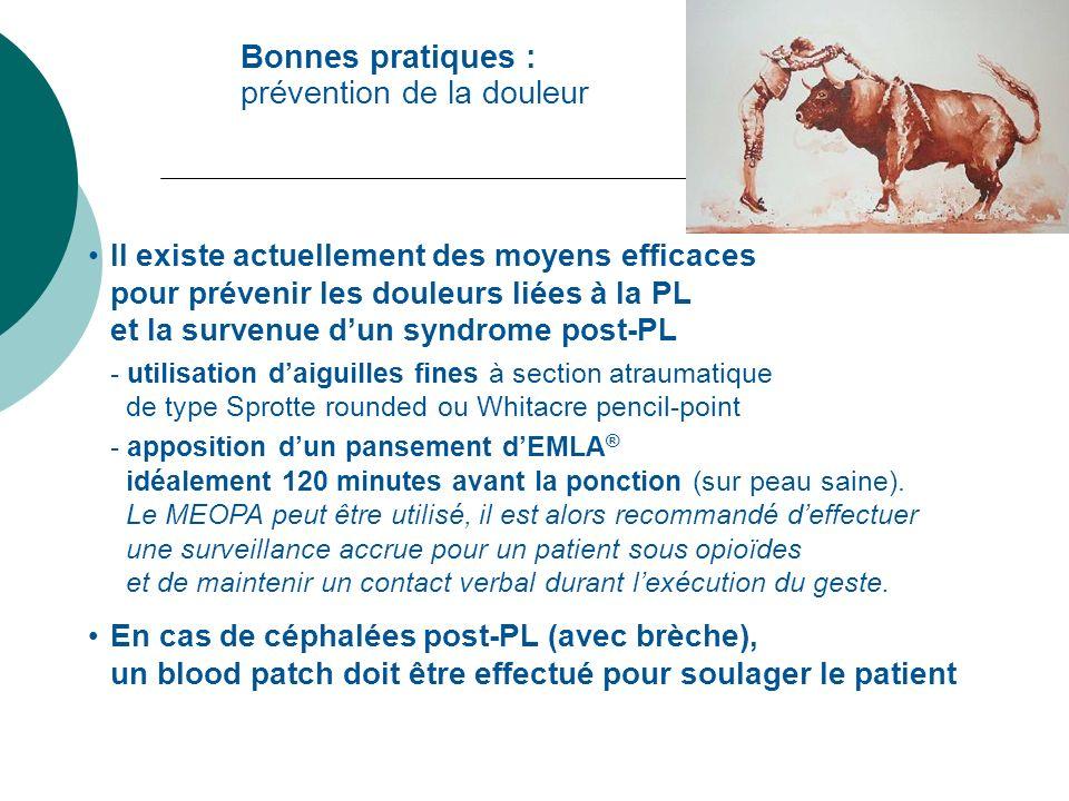 Il existe actuellement des moyens efficaces pour prévenir les douleurs liées à la PL et la survenue dun syndrome post-PL - utilisation daiguilles fine