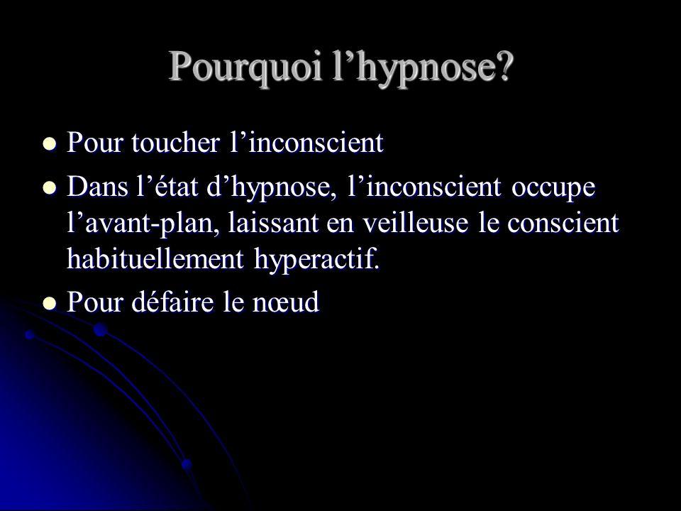 Pourquoi lhypnose.