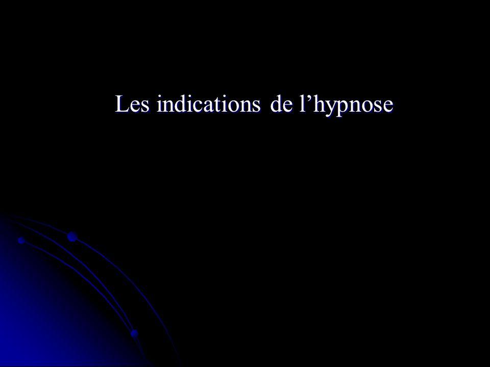 Les indications de lhypnose
