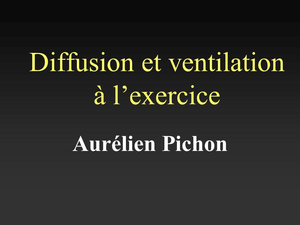 Diffusion et ventilation à lexercice Aurélien Pichon