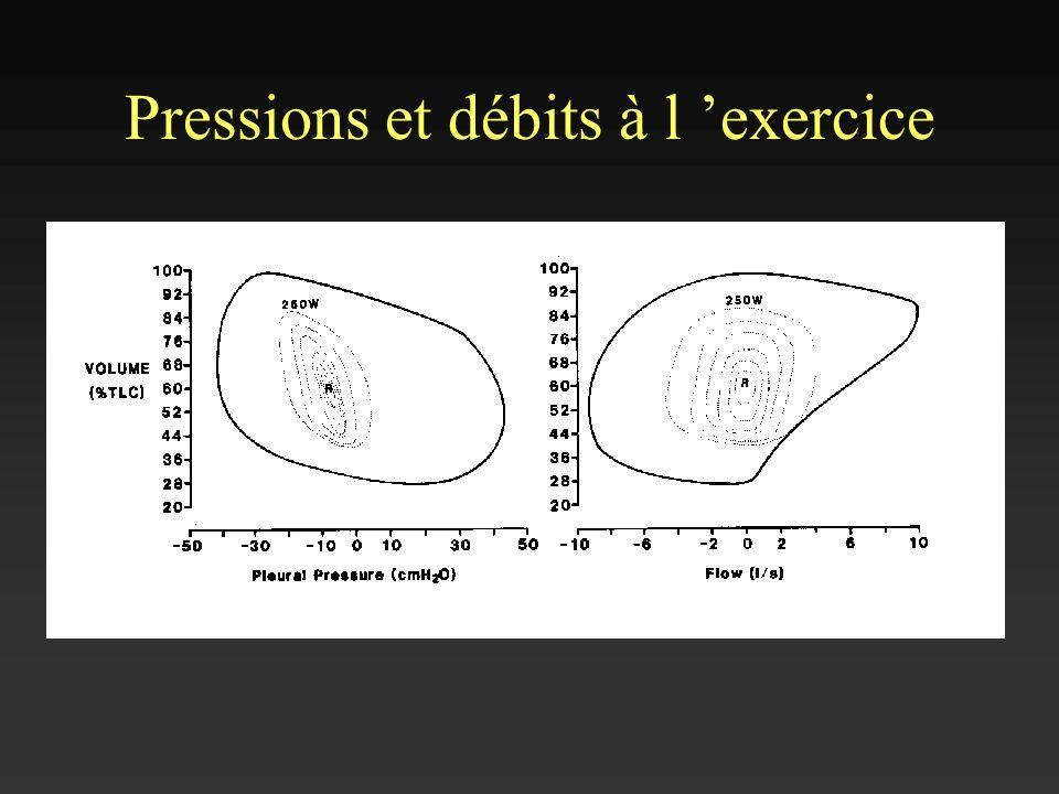 Pressions et débits à l exercice