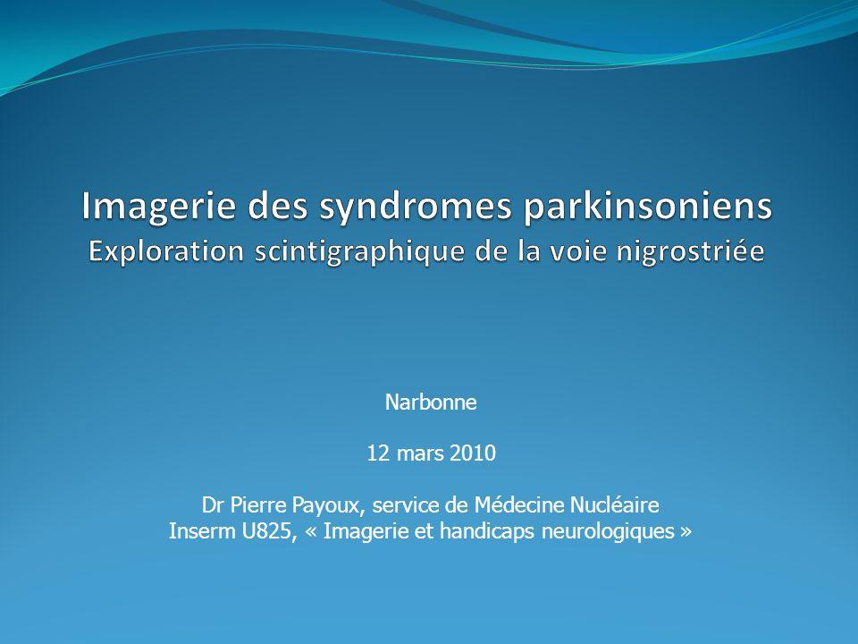 Narbonne 12 mars 2010 Dr Pierre Payoux, service de Médecine Nucléaire Inserm U825, « Imagerie et handicaps neurologiques »