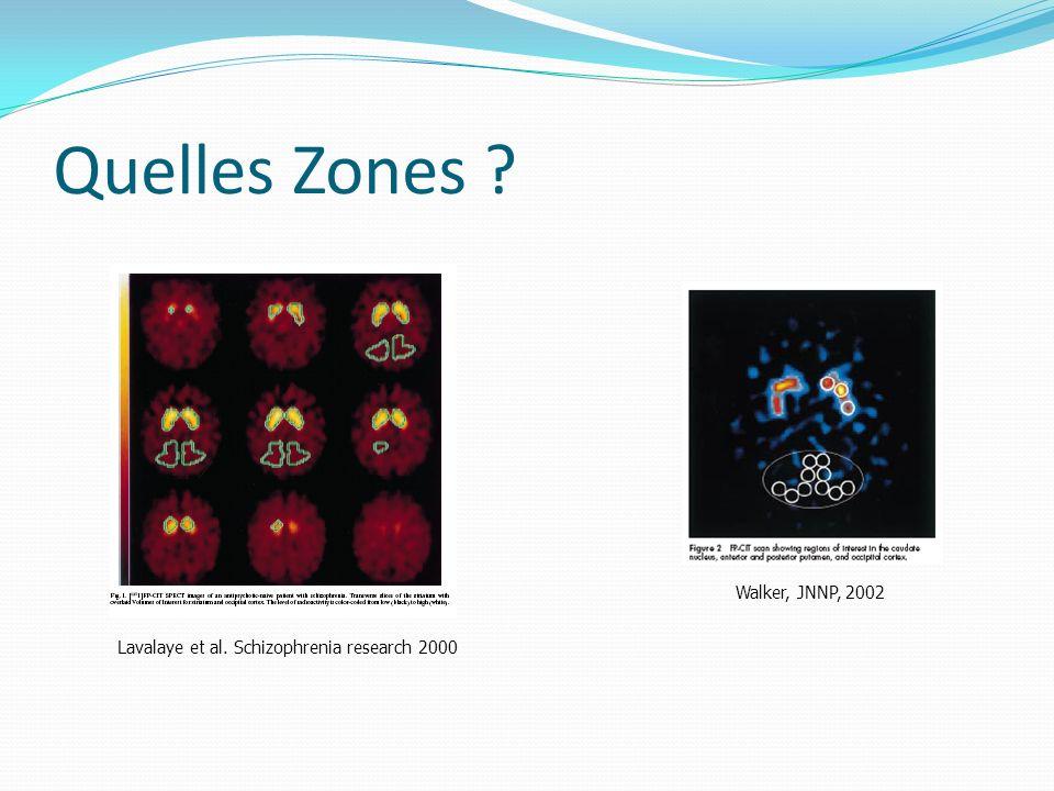 Quelles Zones ? Lavalaye et al. Schizophrenia research 2000 Walker, JNNP, 2002