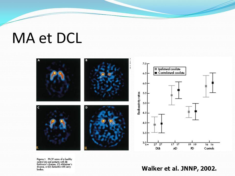 MA et DCL Walker et al. JNNP, 2002.