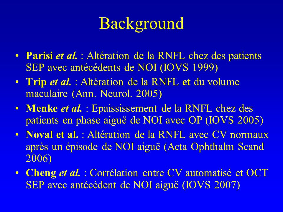 Background Parisi et al.