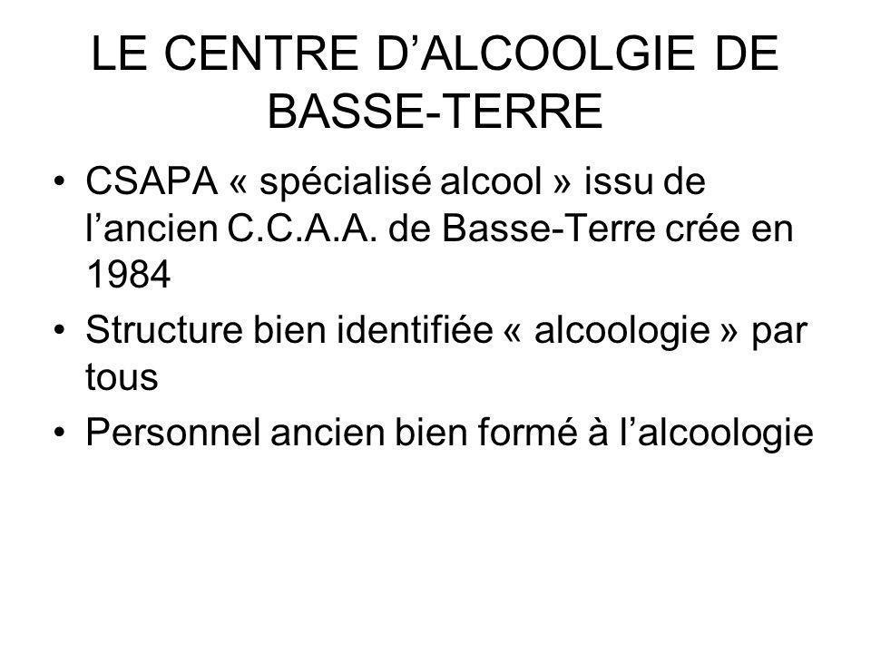 LE CENTRE DALCOOLGIE DE BASSE-TERRE CSAPA « spécialisé alcool » issu de lancien C.C.A.A.