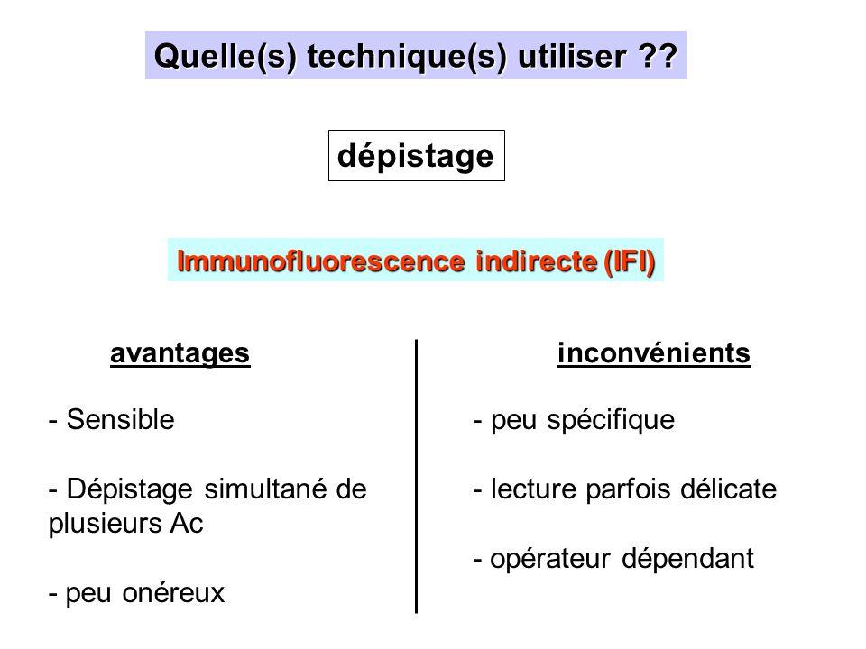 Maladie de Devic Au diagnostic: - screening IFI - identification / quantification rAQP4 Pour le suivi: Test quantitatif rAQP4