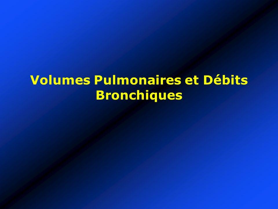Volumes Pulmonaires et Débits Bronchiques