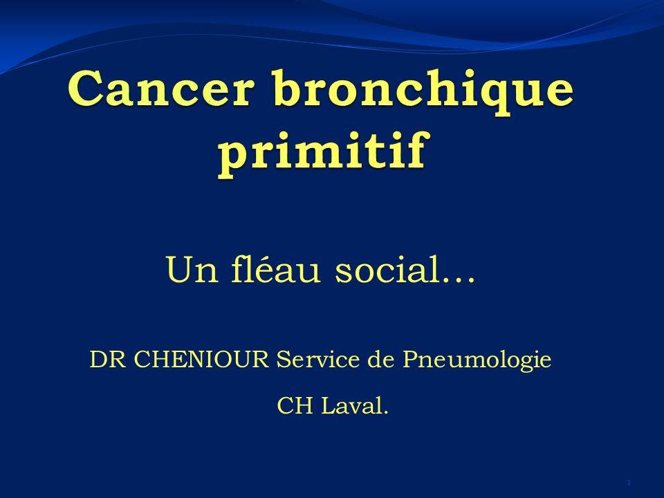 Un fléau social… DR CHENIOUR Service de Pneumologie CH Laval. 1