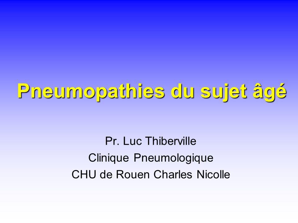 Pneumopathies du sujet âgé Pr. Luc Thiberville Clinique Pneumologique CHU de Rouen Charles Nicolle