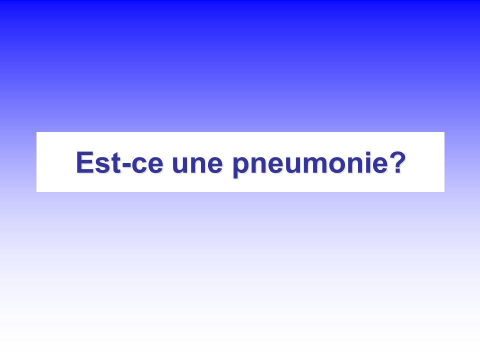 Est-ce une pneumonie?
