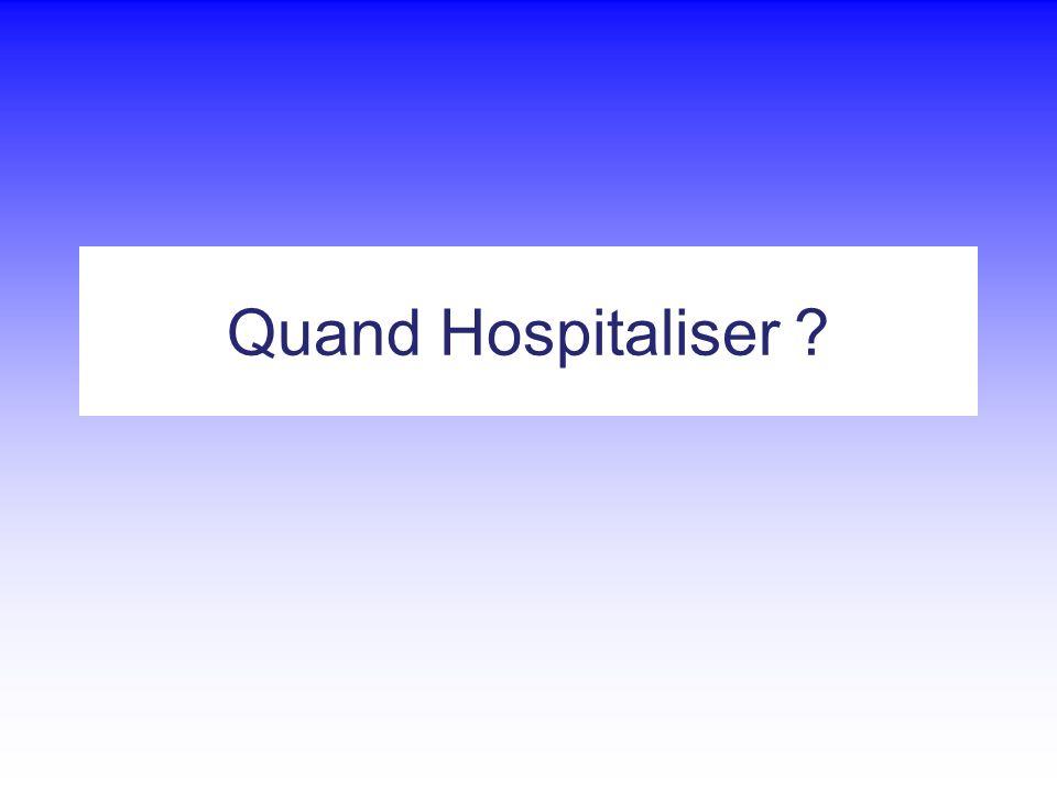 Quand Hospitaliser ?