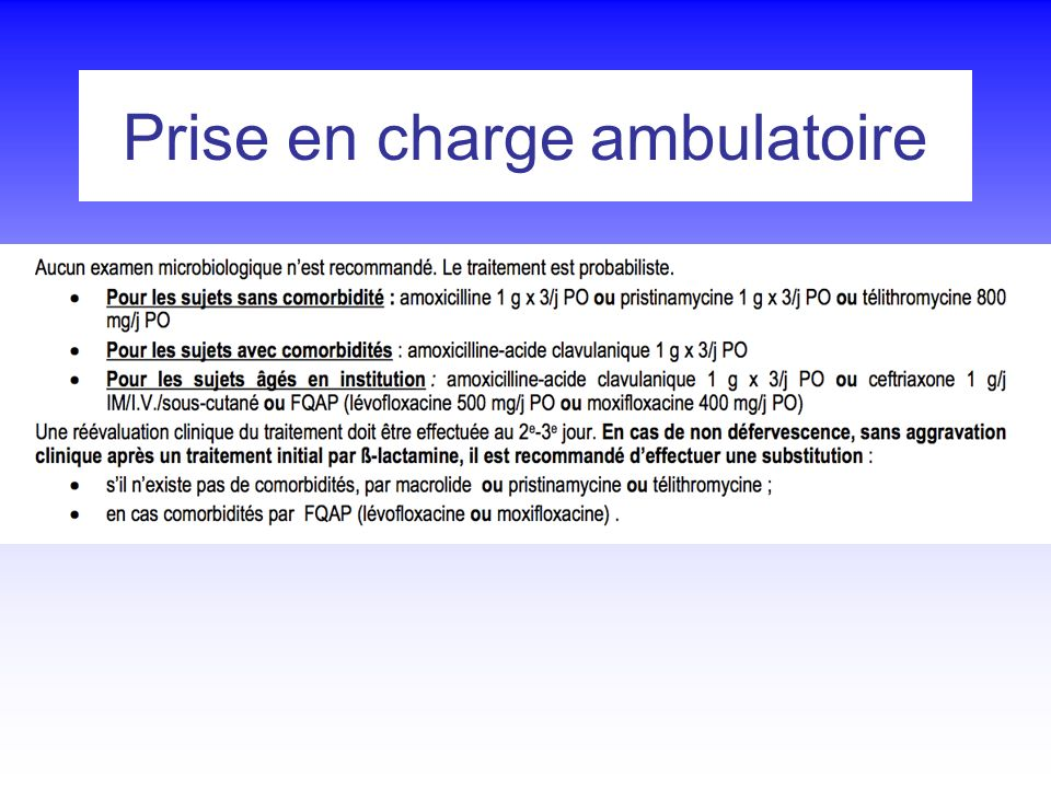 Prise en charge ambulatoire
