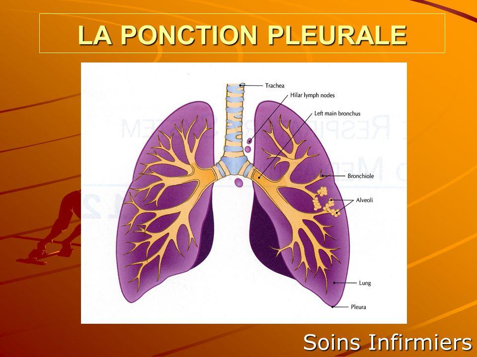 LA PONCTION PLEURALE Soins Infirmiers