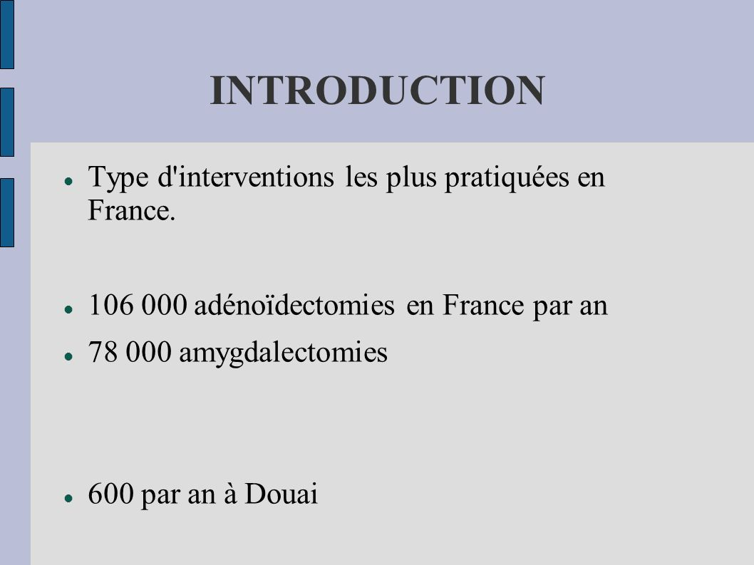 AMYGDALECTOMIE INDICATIONS Angines récidivantes.