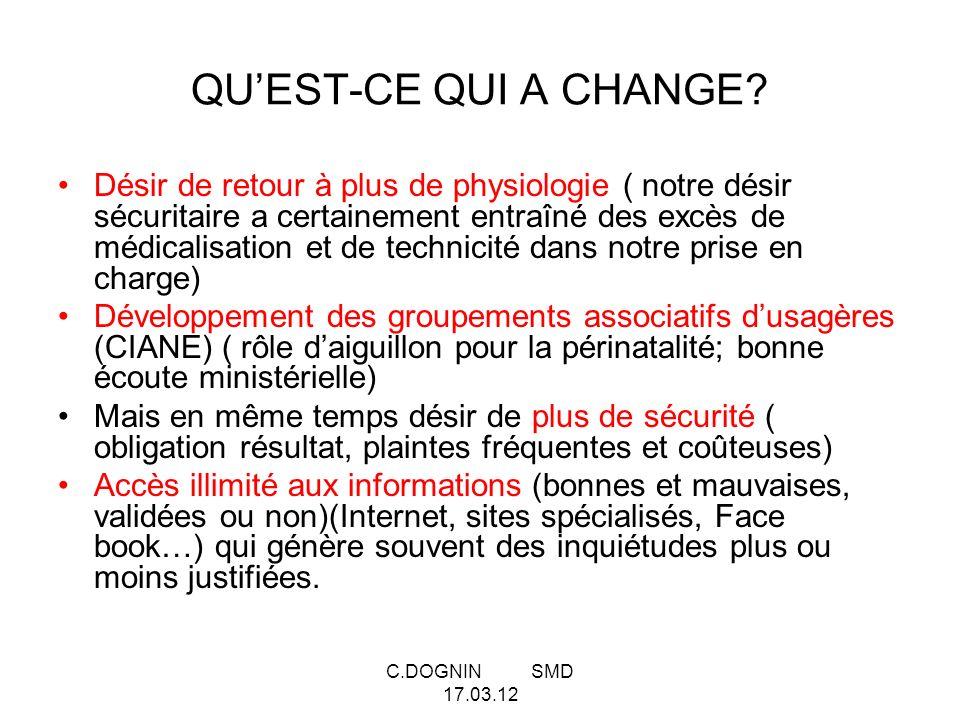 C.DOGNIN SMD 17.03.12 QUEST-CE QUI A CHANGE.Impact de la précarité.