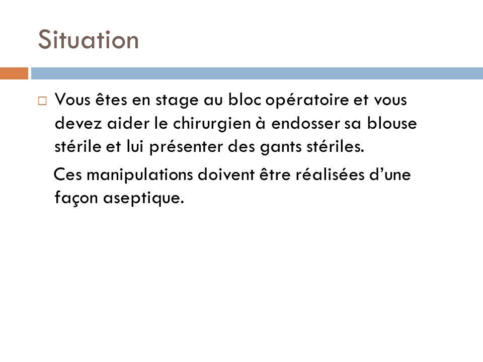 PLAN I)Que définit le terme stérile.II)Quest ce quune manipulation aseptique.