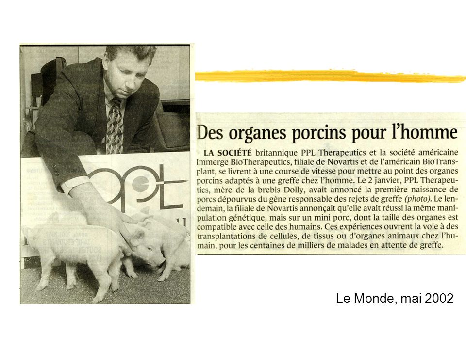 Le Monde, mai 2002