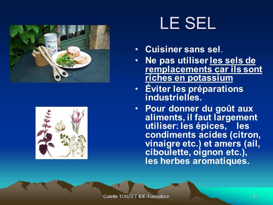 Colette TOUZET IDE-Formatrice6 LE SEL Cuisiner sans sel.
