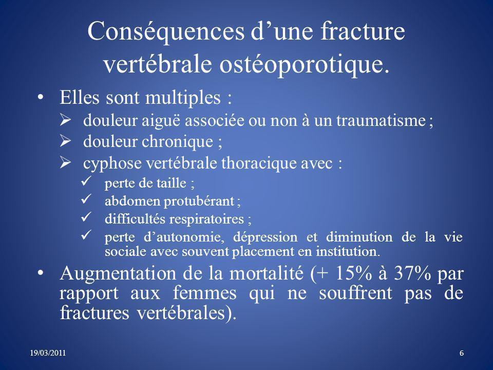 La cyphose du patient entraîne une déstabilisation de la colonne vertébrale 19/03/2011 7