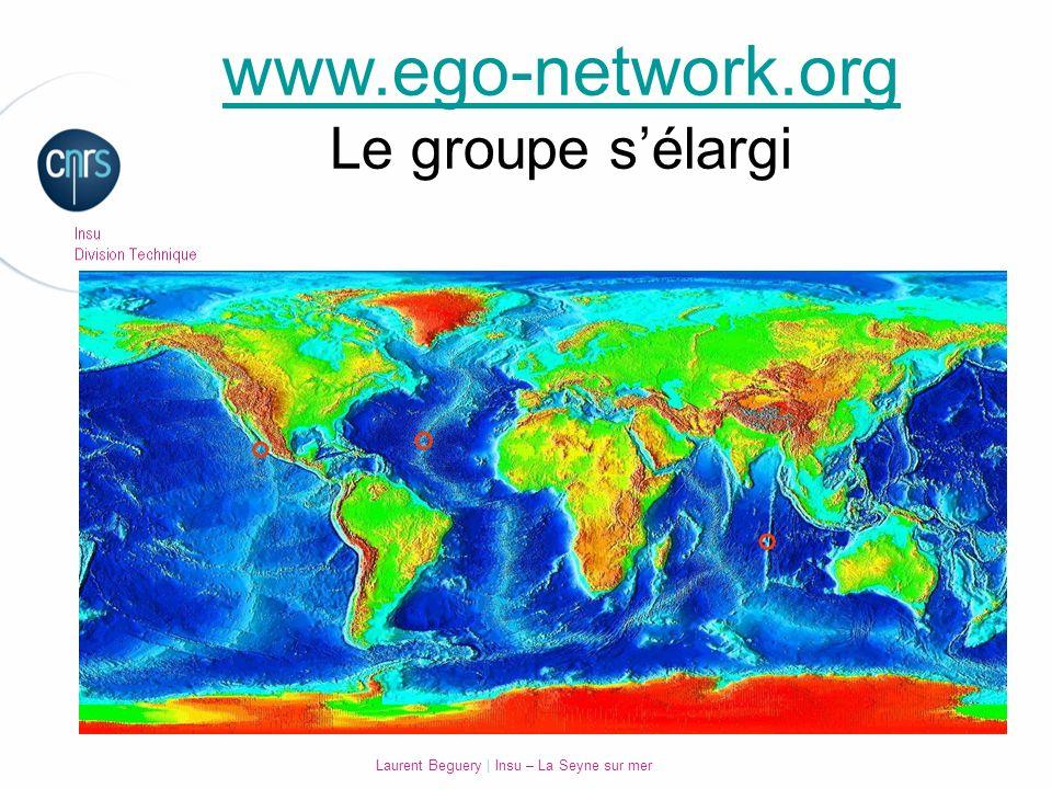 Laurent Beguery | Insu – La Seyne sur mer www.ego-network.org Le groupe sélargi
