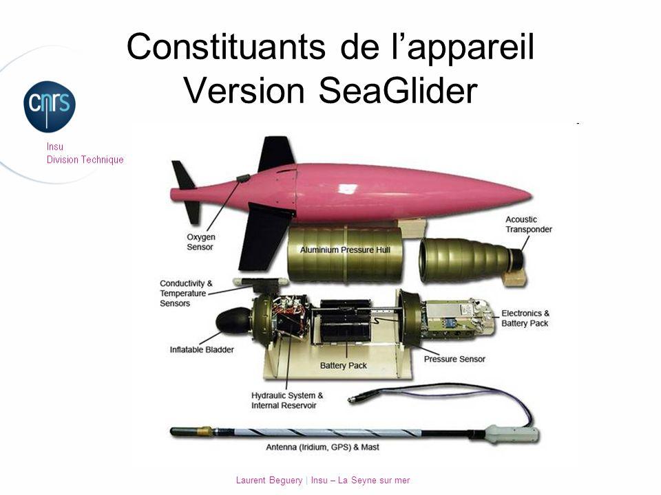 Laurent Beguery | Insu – La Seyne sur mer Constituants de lappareil Version SeaGlider