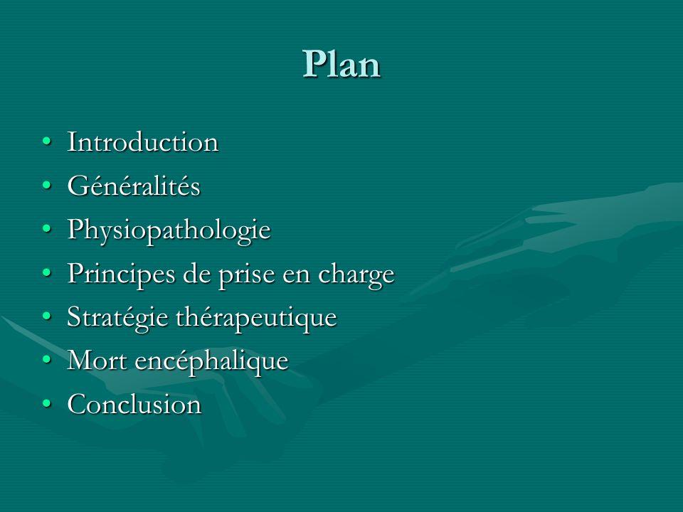 Plan IntroductionIntroduction GénéralitésGénéralités PhysiopathologiePhysiopathologie Principes de prise en chargePrincipes de prise en charge Stratég
