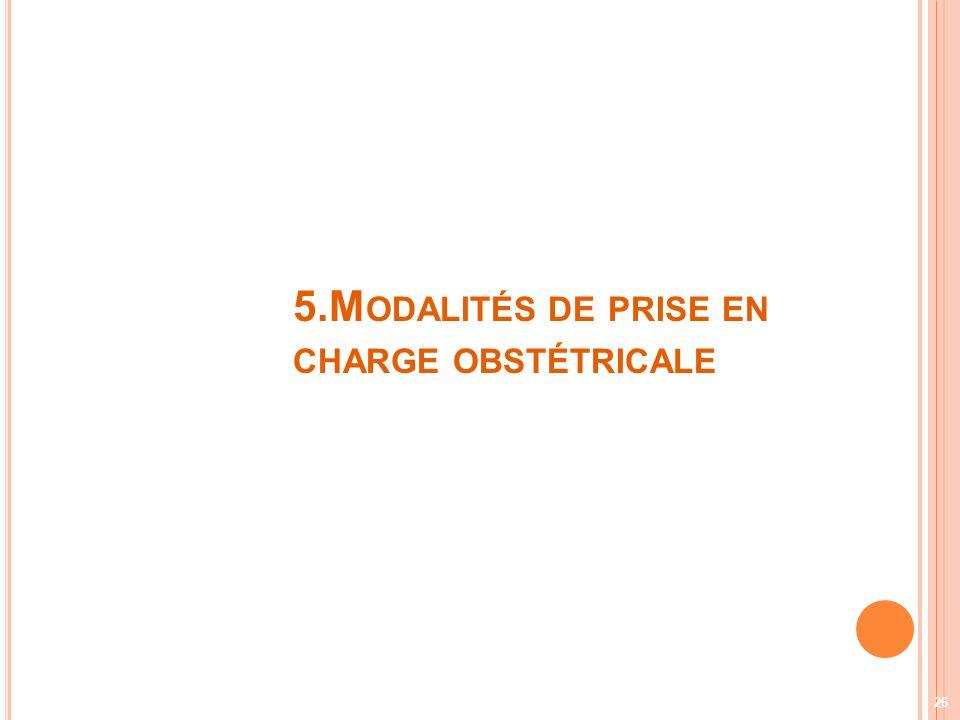 5.M ODALITÉS DE PRISE EN CHARGE OBSTÉTRICALE 26