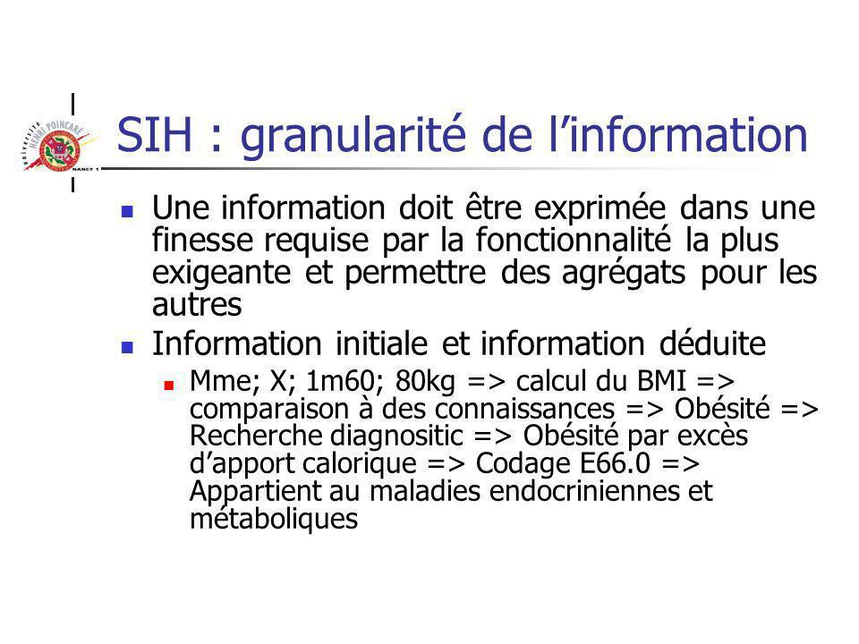Quelles analyses pour mettre en place un SIH Analyse structurelle Structure de linformation Archives Informatique Statistiques Communication (téléphone, mail, fax…) Services logistiques Cuisine Transport Blanchisserie Restauration