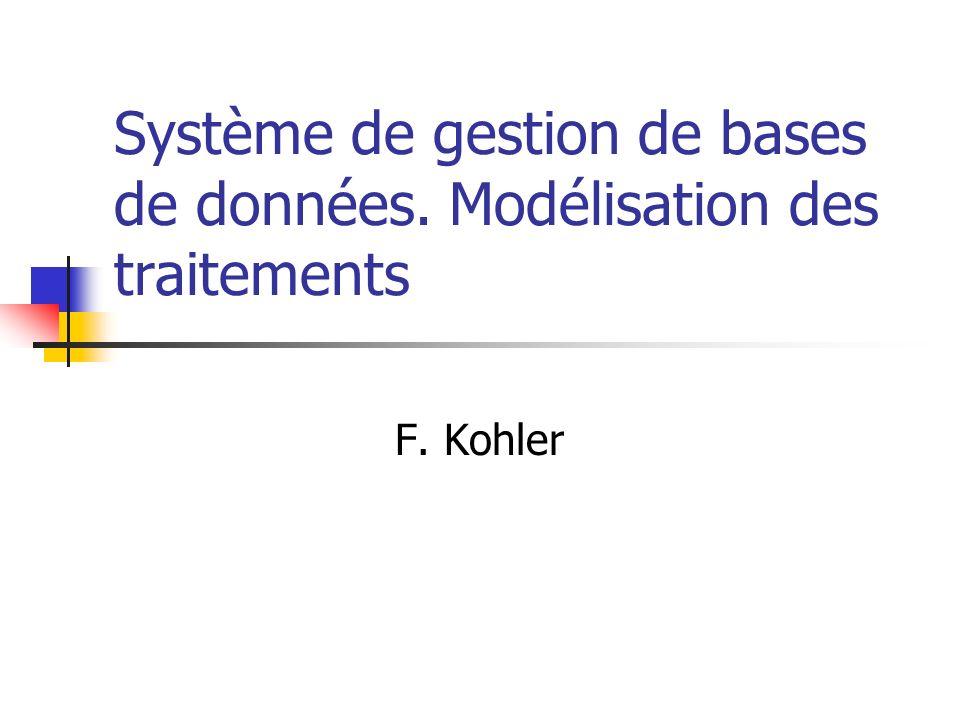 Système de gestion de bases de données. Modélisation des traitements F. Kohler