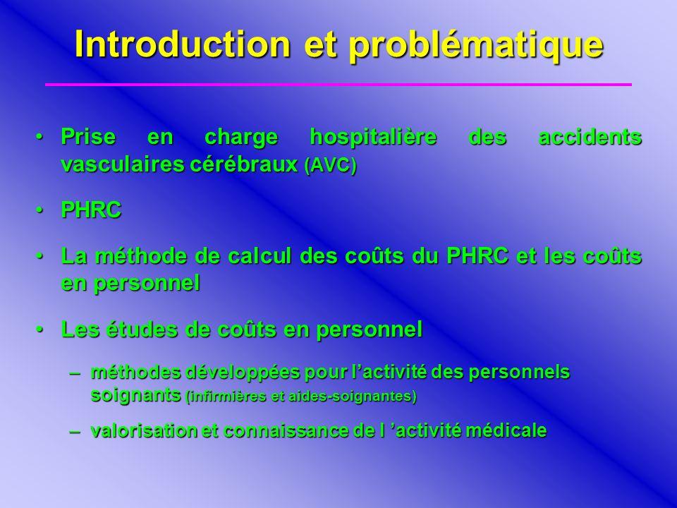Introduction et problématique Prise en charge hospitalière des accidents vasculaires cérébraux (AVC)Prise en charge hospitalière des accidents vascula