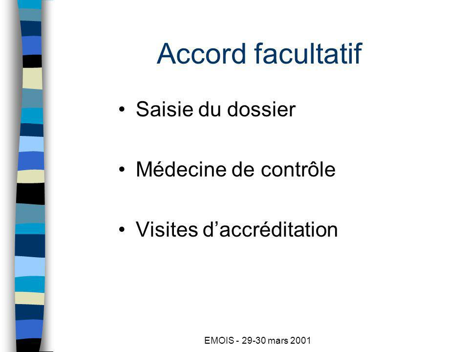 EMOIS - 29-30 mars 2001 Deux cas particuliers Expertise sans saisie du dossier : –Accord du patient indispensable –Tribunal administratif .