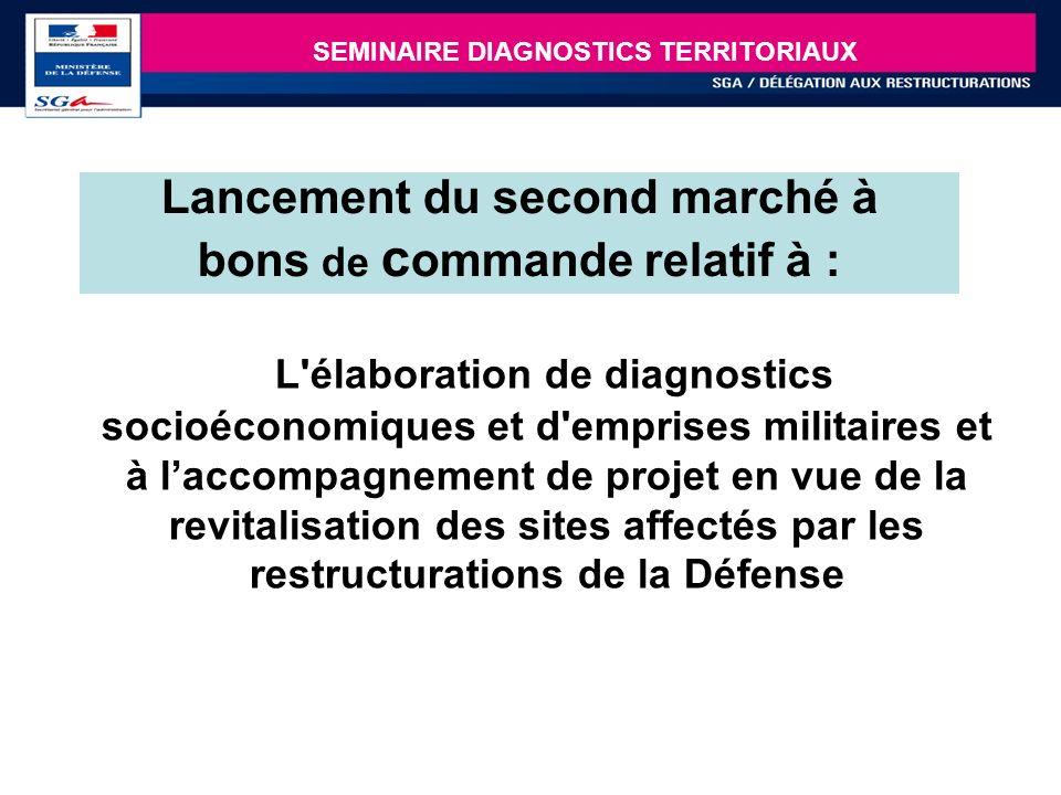 17 Lancement du second marché à bons de c ommande relatif à : L'élaboration de diagnostics socioéconomiques et d'emprises militaires et à laccompagnem