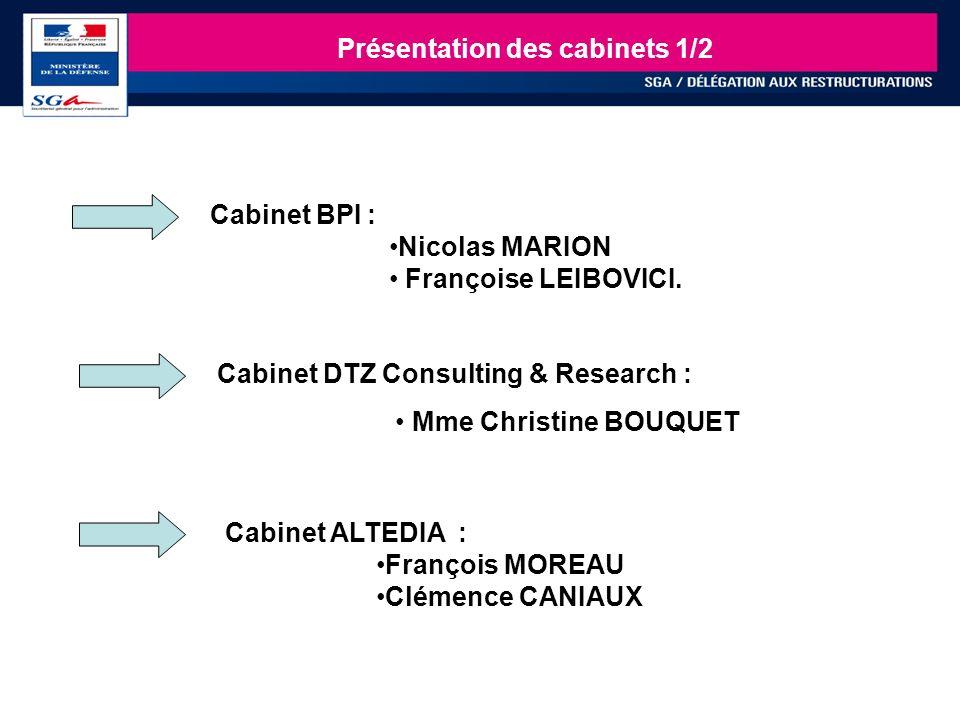 25 Présentation des cabinets 1/2 Cabinet DTZ Consulting & Research : Mme Christine BOUQUET Cabinet ALTEDIA : François MOREAU Clémence CANIAUX Cabinet