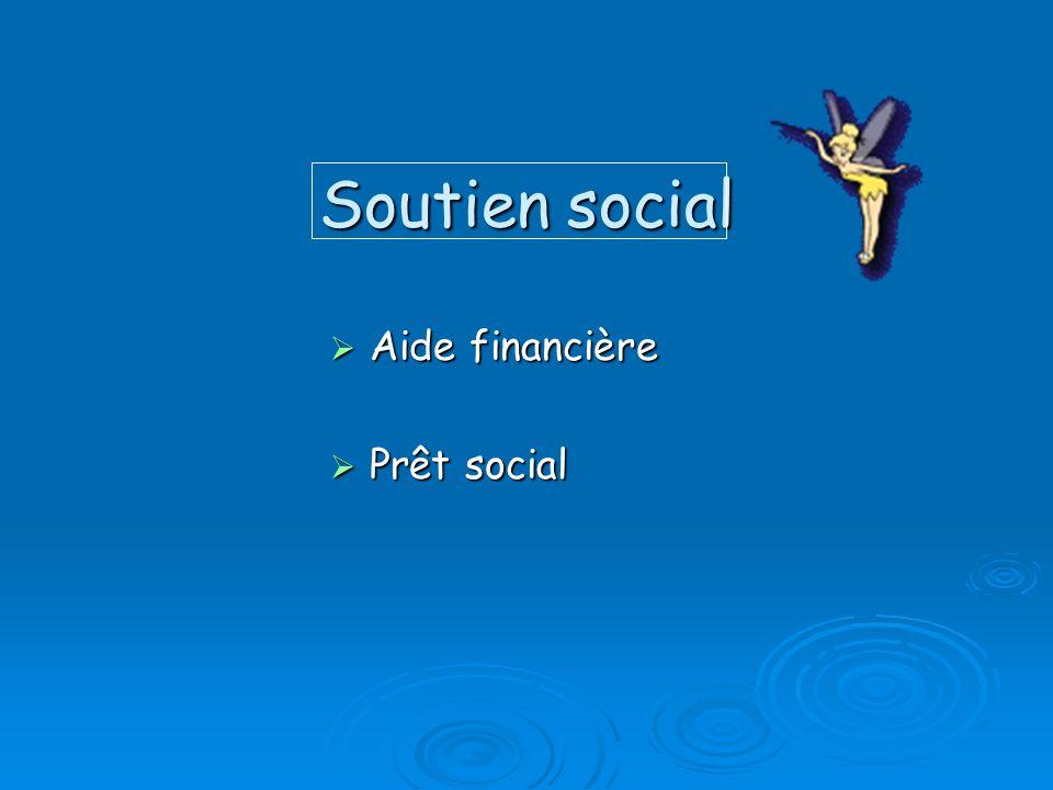 Soutien social Aide financière Aide financière Prêt social Prêt social