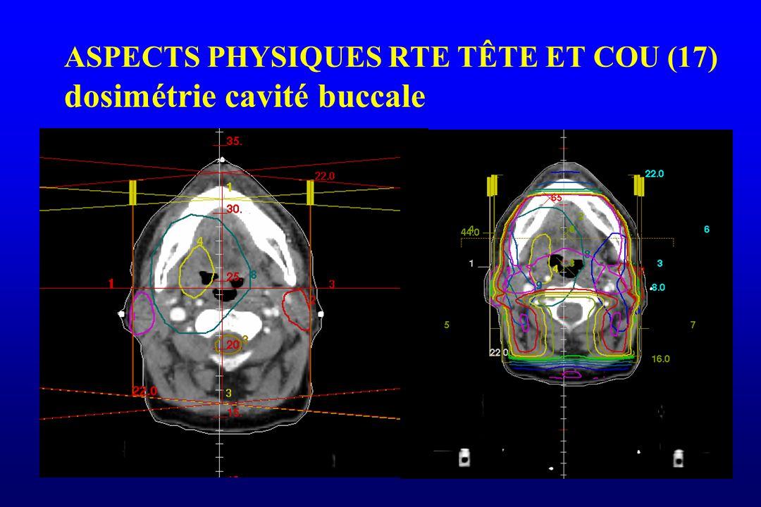 ASPECTS PHYSIQUES RTE TÊTE ET COU (17) dosimétrie cavité buccale