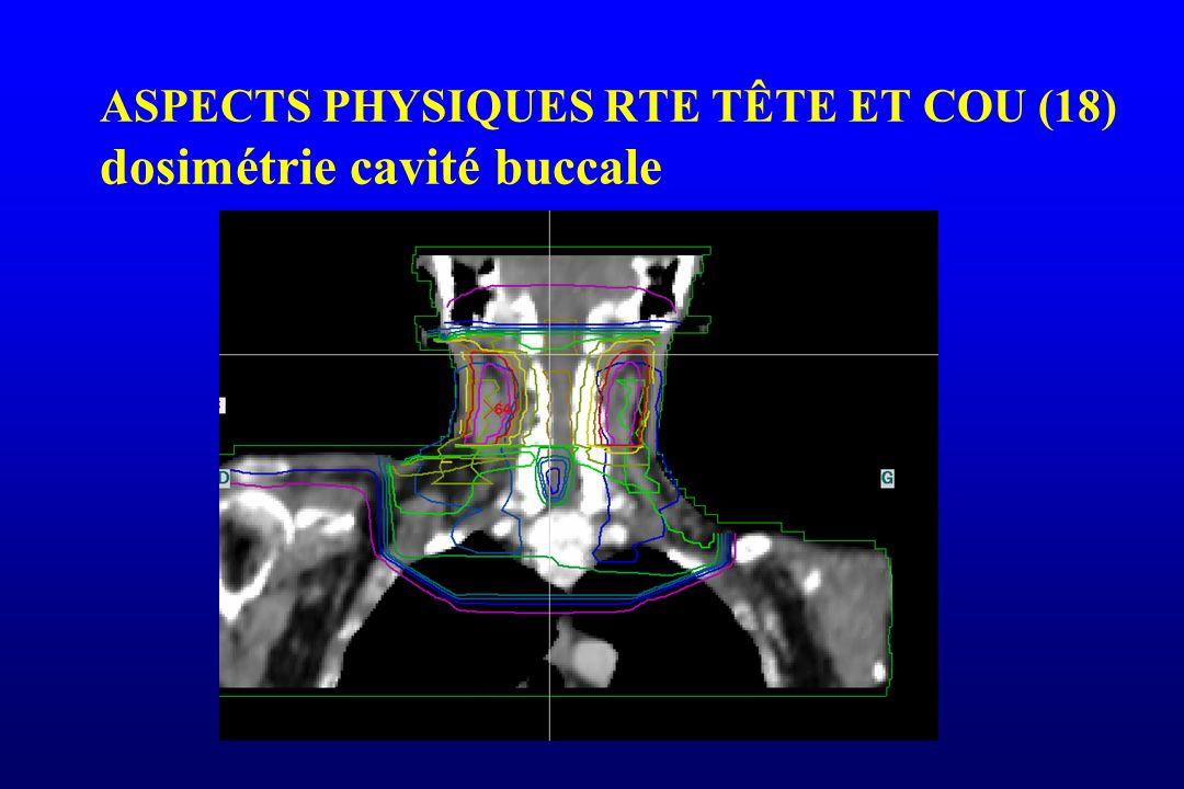 ASPECTS PHYSIQUES RTE TÊTE ET COU (18) dosimétrie cavité buccale