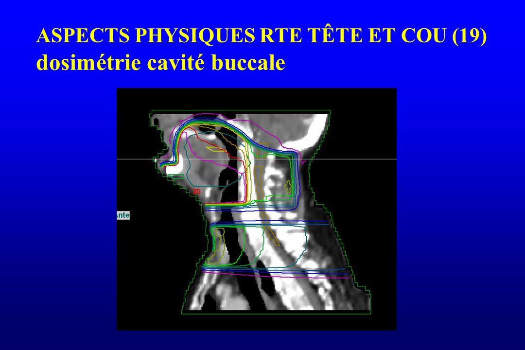 ASPECTS PHYSIQUES RTE TÊTE ET COU (19) dosimétrie cavité buccale