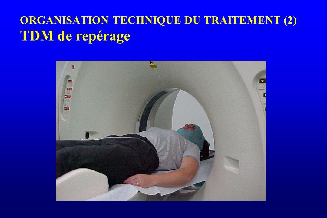 ORGANISATION TECHNIQUE DU TRAITEMENT (2) TDM de repérage
