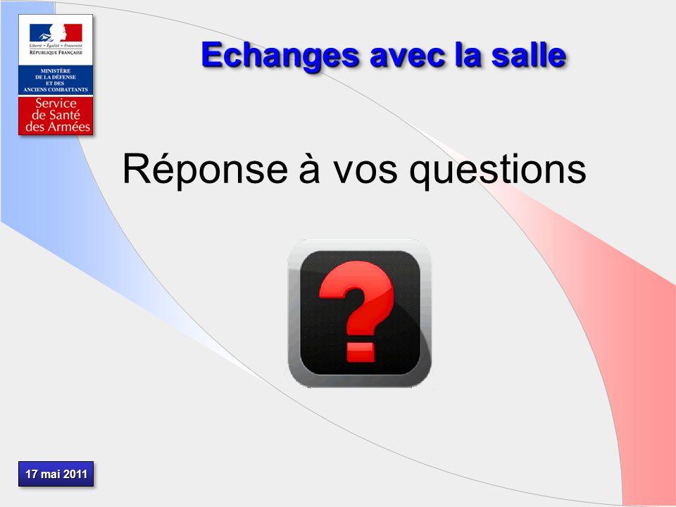17 mai 2011 Echanges avec la salle Réponse à vos questions