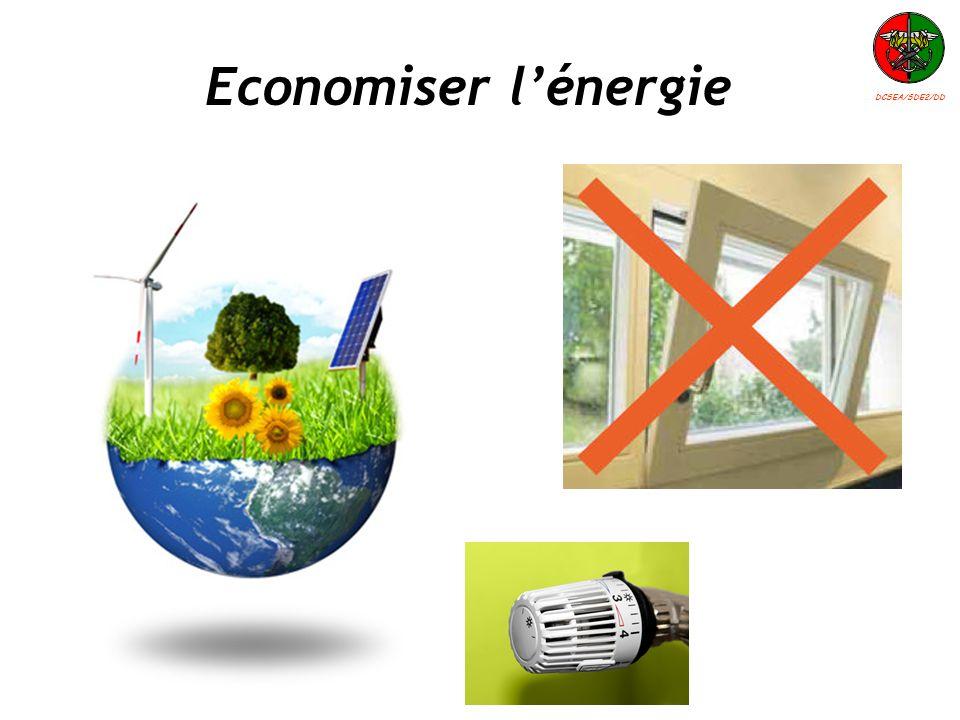 Economiser lénergie DCSEA/SDE2/DD