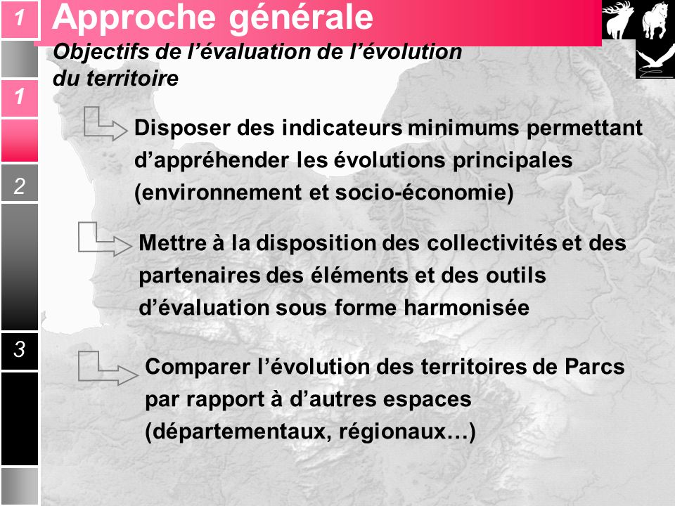 Réflexion Inter Parcs bas - normands Disposer des indicateurs minimums permettant dappréhender les évolutions principales (environnement et socio-écon
