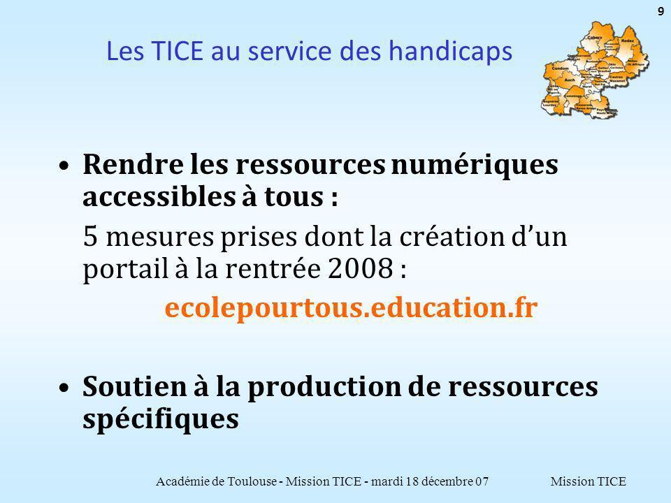 Mission TICE Département 81 Académie de Toulouse - Mission TICE - mardi 18 décembre 07 50 29 collèges, 8 lycées, 10 LP NE/NO (ETIC juin 2007) : Clg = 8,3 ; Lyc = 4,7 ; LP = 4,6 Politique globale CG 81 : Objectif 2007, mise à niveau des clgs.