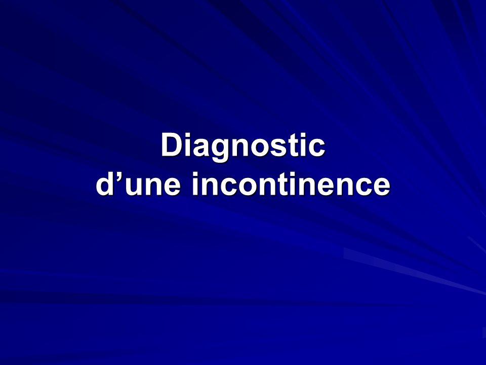 Diagnostic dune incontinence