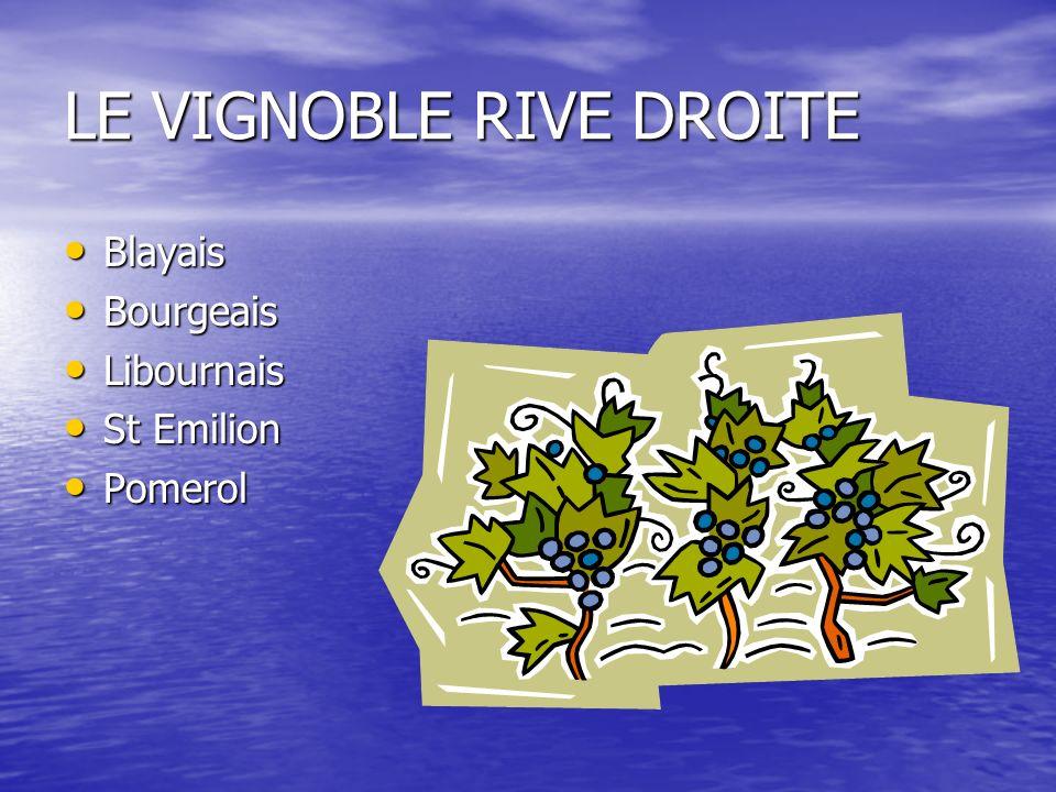 LE VIGNOBLE RIVE DROITE Blayais Blayais Bourgeais Bourgeais Libournais Libournais St Emilion St Emilion Pomerol Pomerol