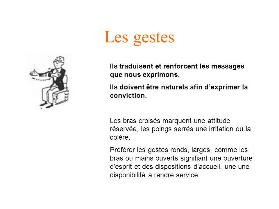 Les gestes Ils traduisent et renforcent les messages que nous exprimons.