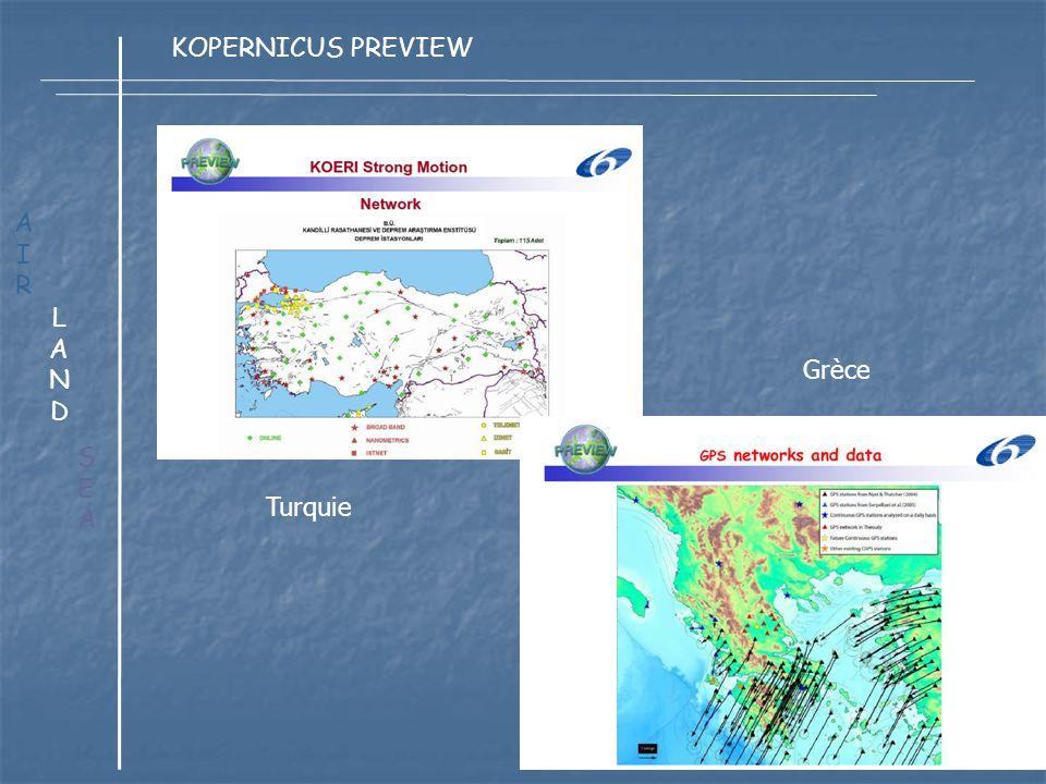 LANDLAND AIRAIR SEASEA KOPERNICUS PREVIEW Turquie Grèce