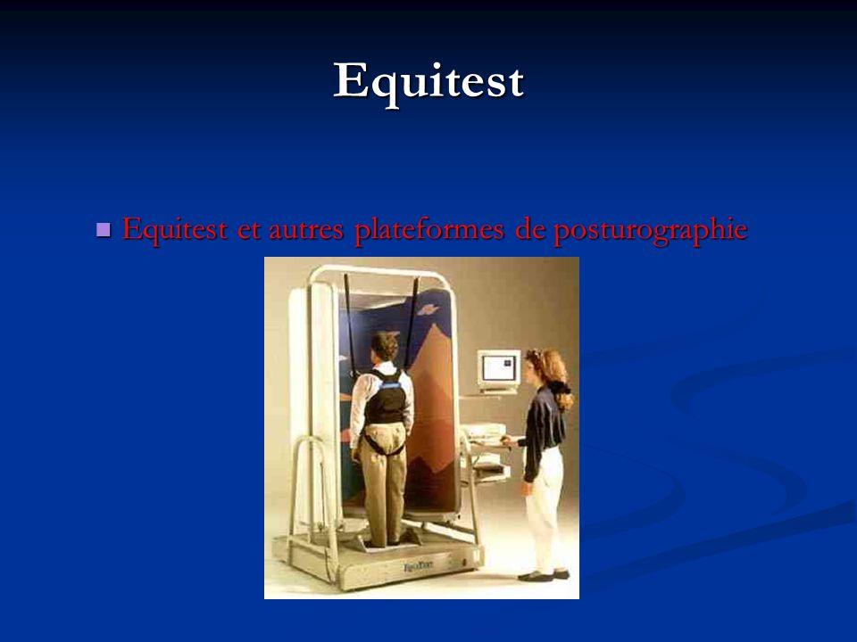 Equitest Equitest et autres plateformes de posturographie Equitest et autres plateformes de posturographie
