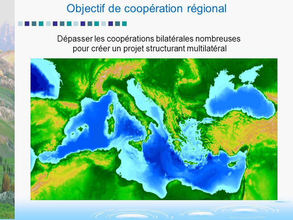 Objectif de coopération régional Dépasser les coopérations bilatérales nombreuses pour créer un projet structurant multilatéral