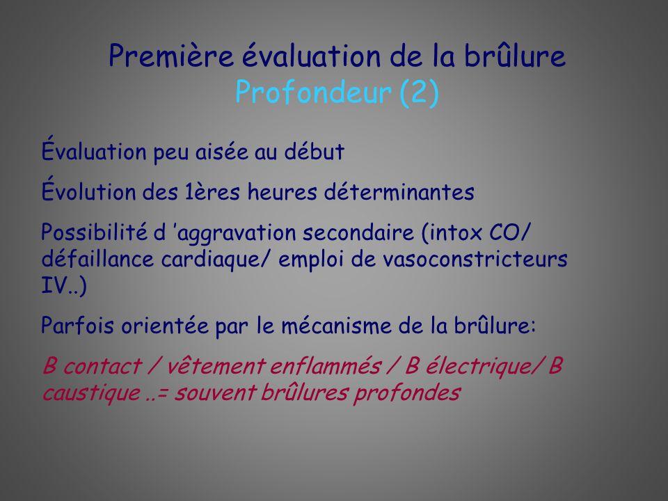 Évaluation peu aisée au début Évolution des 1ères heures déterminantes Possibilité d aggravation secondaire (intox CO/ défaillance cardiaque/ emploi d